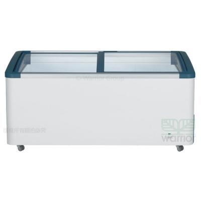 德國利勃 6尺3 弧型玻璃推拉冷凍櫃554L(EFI-5553)附LED燈-220V