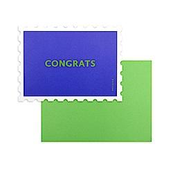 Dailylike 郵票造型卡片信封組-02 恭喜