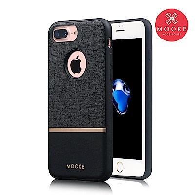 Mooke iPhone 7 Plus/8 Plus 尊爵Nappa保護殼-經典黑