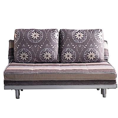 品家居 史爾希亞麻布拉合式沙發床-151x96x88cm-免組
