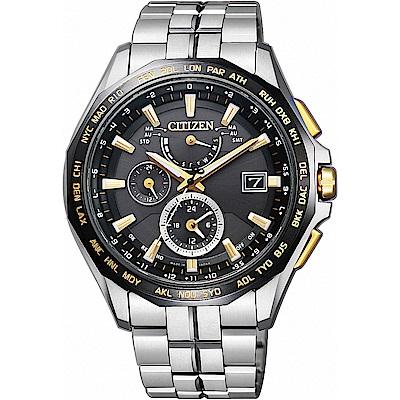 CITIZEN 星辰 光動能電波限量鈦金屬腕錶金時標-AT9095-50E