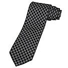 GUCCI 經典雙G LOGO圓狀黑底領帶(白字)