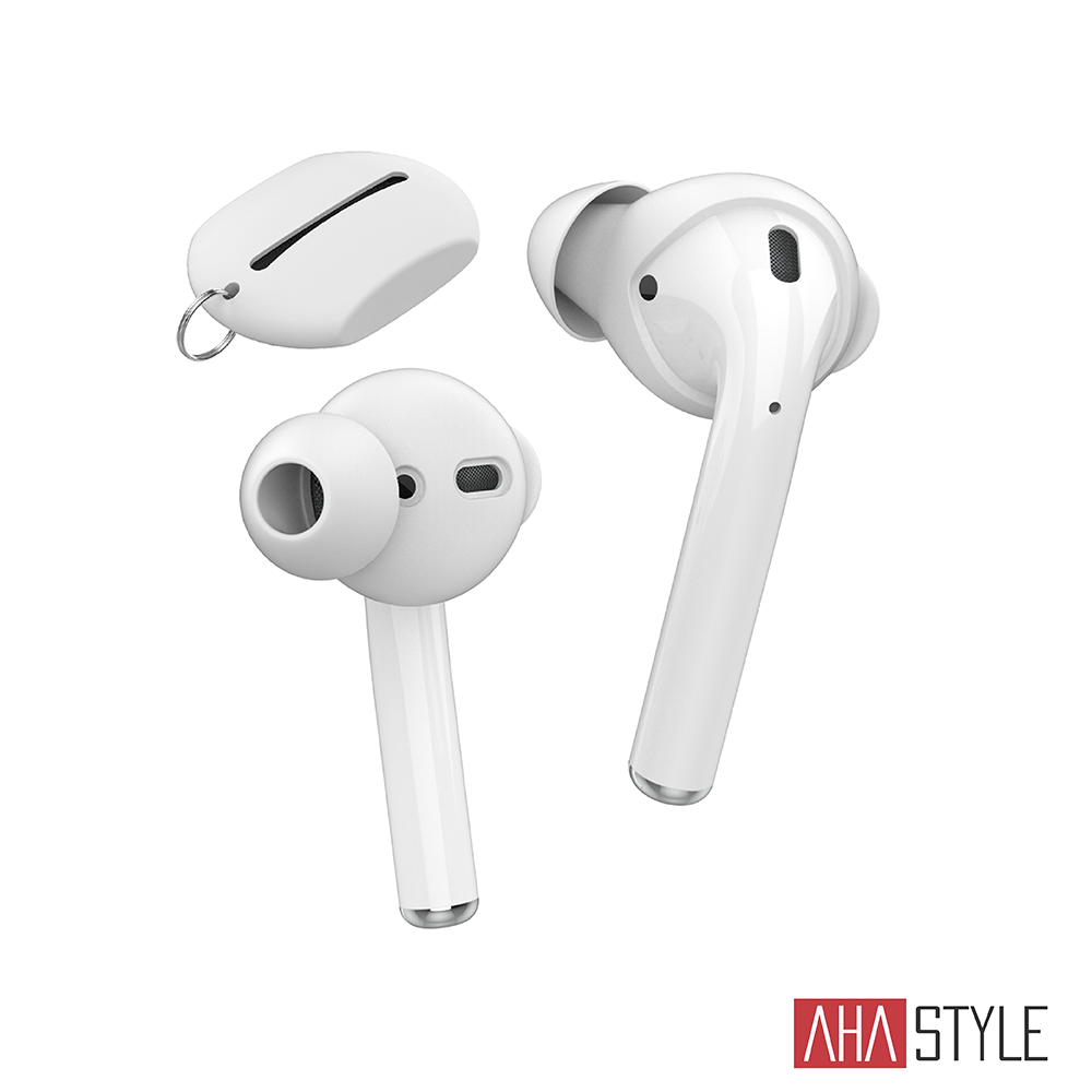 AHAStyle AirPods/EarPods 提升音質 入耳式耳機套 白色