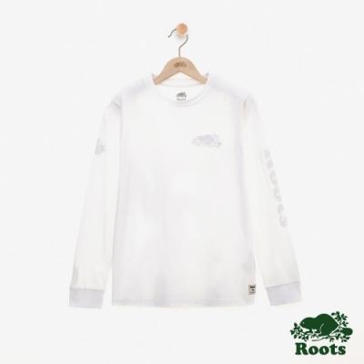 女裝ROOTS - 庫柏海狸長袖T恤-白色