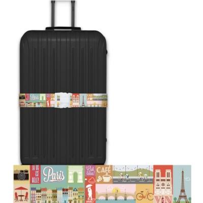 CS0391創意彩繪款情定巴黎行李箱綁帶 行李箱束帶 旅行箱捆綁帶