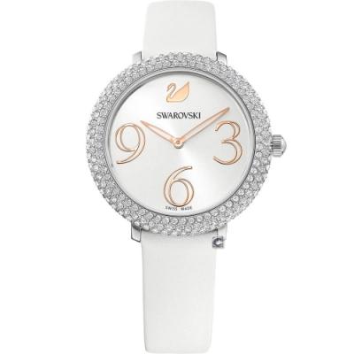 SWAROVSKI施華洛世奇 CRYSTAL FROST 璀璨時尚錶(5484070)-白