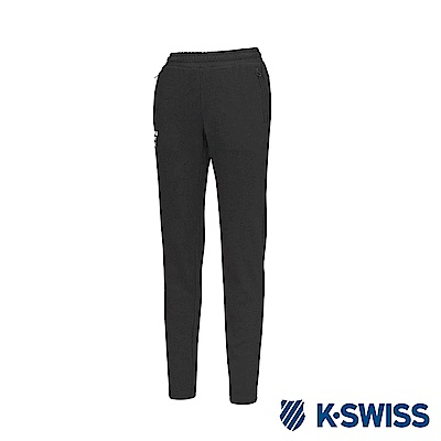 K-Swiss Jersey Pants 韓版運動長褲-女-黑