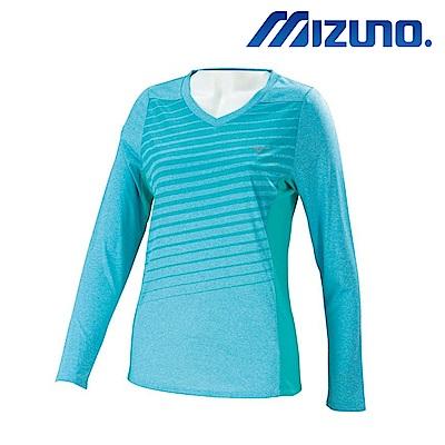 MIZUNO 美津濃 女路跑長袖T恤 J2TA773121