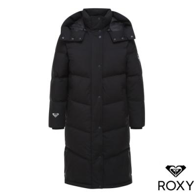 【ROXY】RX Dreamer long down 長版連帽羽絨外套 黑色