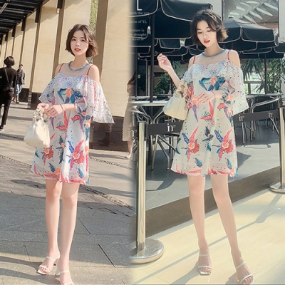 【韓國K.W.】(現貨)時尚潮流舒適自在洋裝