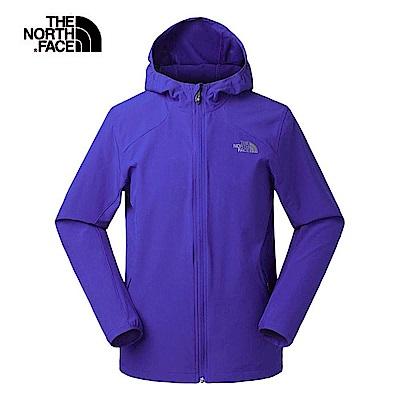 The North Face北面男款靛藍色防潑水連帽風衣外套|3GE15NX
