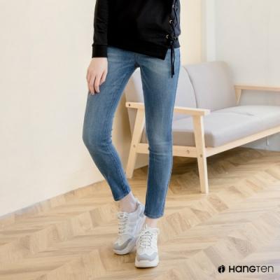 Hang Ten-女裝-SKINNY FIT緊身丹寧褲-淺藍色