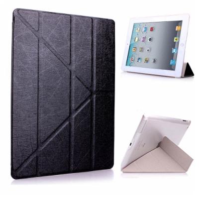 iPad mini5 7.9吋 2019 A2133 蠶絲紋Y折保護皮套