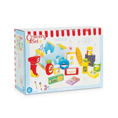 英國 Le Toy Van 角色扮演系列 - 超市結帳櫃台木質玩具組 (TV326)