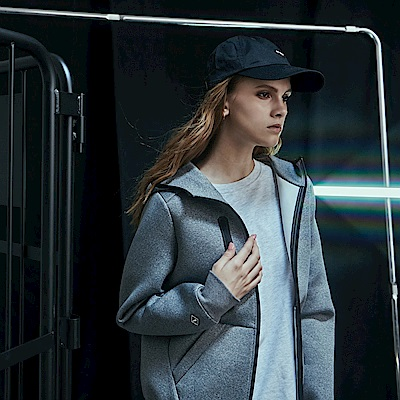 CACO-拉鍊款連帽外套-情侶款(兩色)-女【RNC013】