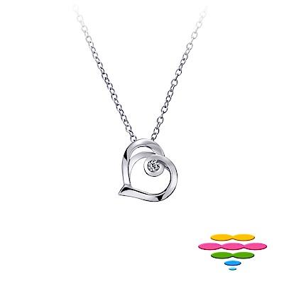 彩糖鑽工坊 愛心鑽石項鍊 情有獨鍾系列 日本10K 輕珠寶