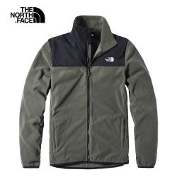 The North Face北面男款墨綠色保暖抓絨外套|49AE21L