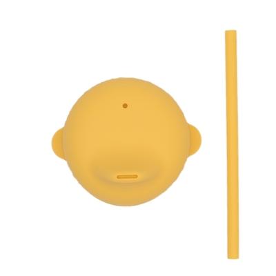 澳洲We Might Be Tiny 動物矽膠杯套吸管組-萊姆黃