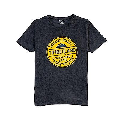 Timberland 男款黑色 LOGO T恤|A1NHG