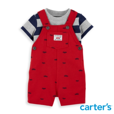 【Carter's】 旅行風爸比汽車紅色2件組套裝(12M-24M) 任選 (台灣總代理)