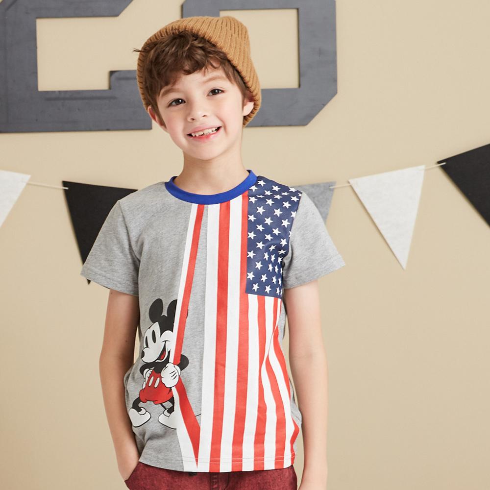 Disney 米奇系列國旗圓領上衣 (2色可選)