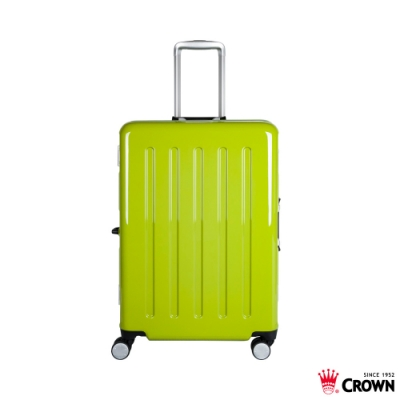 CROWN 皇冠 24吋 大容量鋁框拉桿箱 高光綠