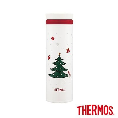 THERMOS膳魔師不鏽鋼真空保溫杯0.5L(JNO-500)-CW(白色聖誕)
