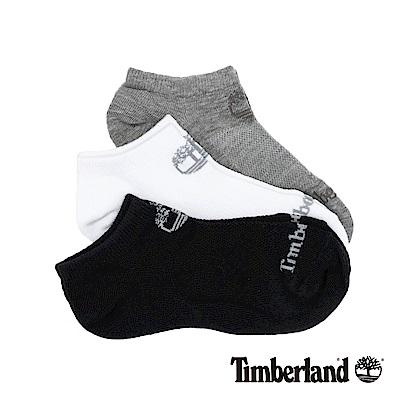 Timberland 女款黑灰白素色三件組船形襪|A1EOJ