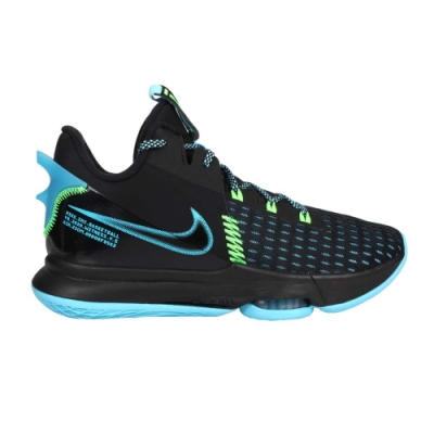 NIKE LEBRON WITNESS V EP 男籃球鞋-氣墊 高筒 避震 CQ9381004 黑藍螢光綠