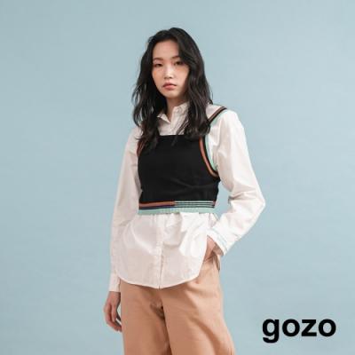 gozo Polo雙層領襯衫(白色)