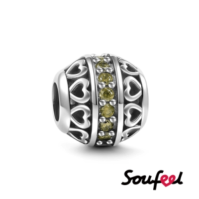 SOUFEEL索菲爾 925純銀珠飾 生日石 八月 串珠