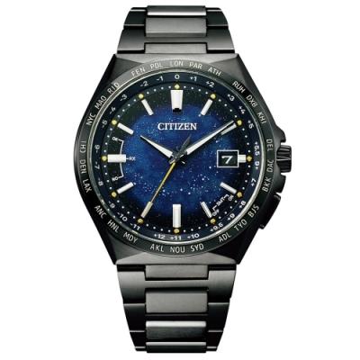 CITIZEN星辰 星空藍超級鈦限量款電波光動能腕錶CB0219-50L