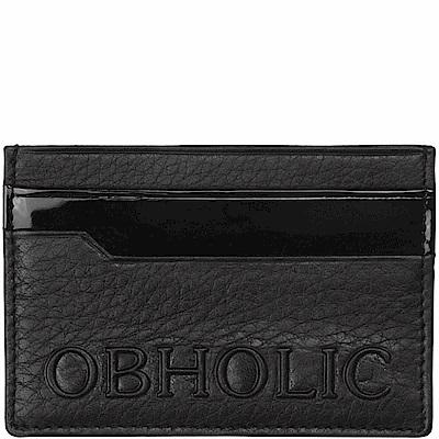 OBHOLIC 義大利牛皮卡片夾卡套票卡夾 OB09CR005