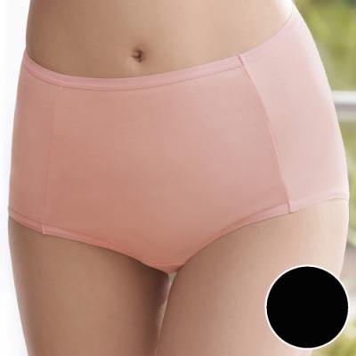 華歌爾 天絲纖維A100 M-3L高腰三角褲(黑) 環保素材-透氣包臀-吸濕舒適