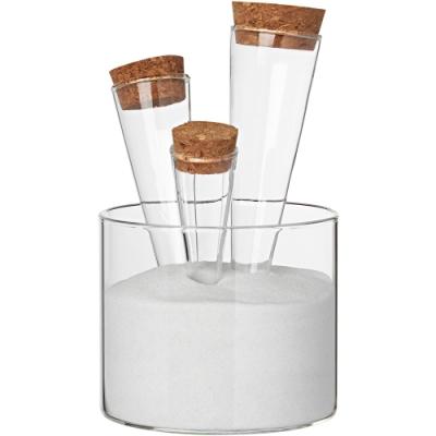 《RADER》錐形沙座玻璃調味罐組