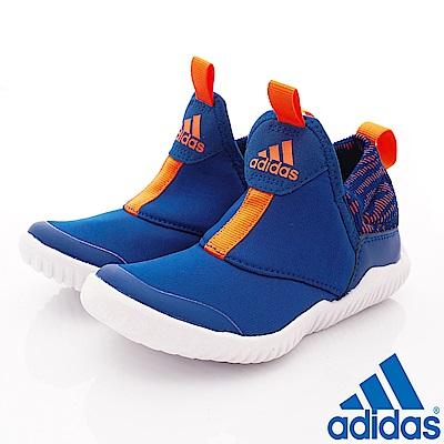 adidas童鞋 RapidaZen輕量慢跑款2351藍(中小童段)