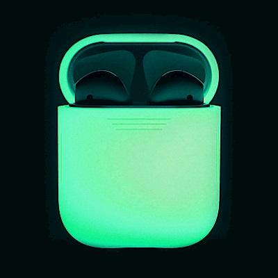 AHAStyle PodFit - AirPods 專用矽膠保護套 夜光版透白色