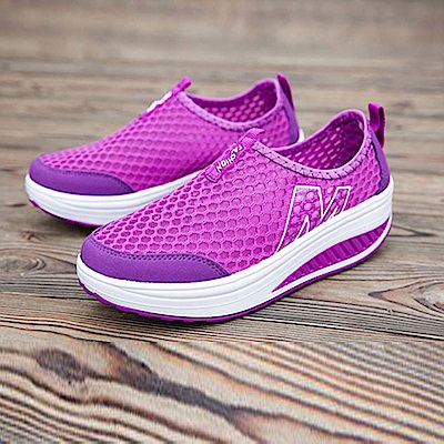 韓國KW美鞋館 好穿鞋推薦透氣輕量健走塑身鞋-紫色
