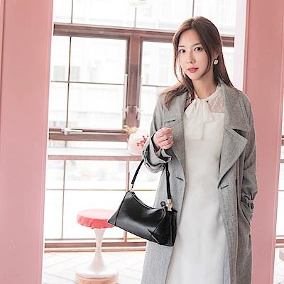 純色簡約優雅質感韓風短肩帶側背包-OB大尺碼