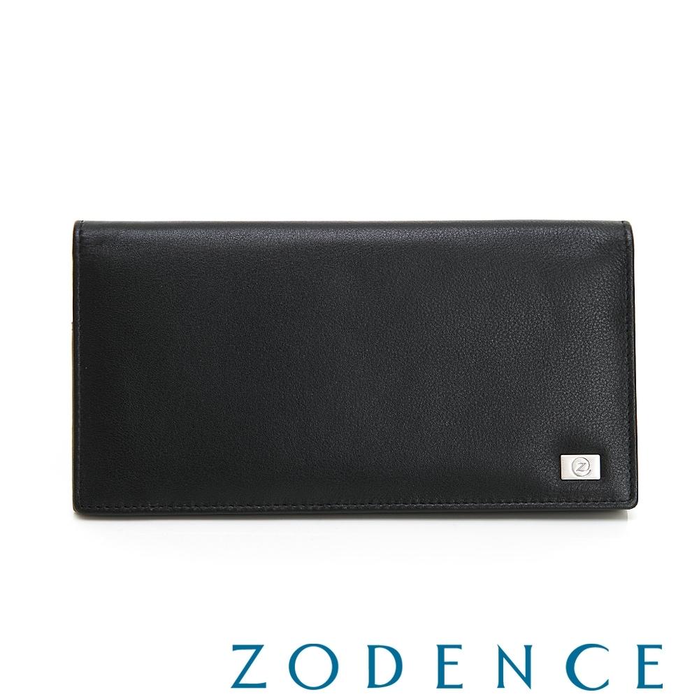 ZODENCE MAN手感系列進口牛皮零錢袋10卡長夾 黑