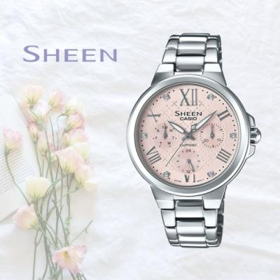 CASIO卡西歐 奢華水晶元素腕錶(SHE-3511D-4A)