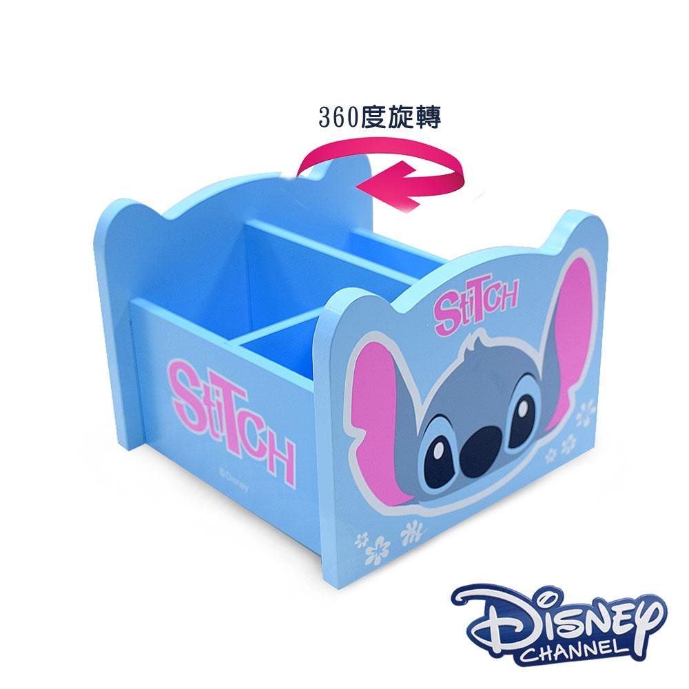 CY本舖 Disney 史迪奇 360旋轉收納盒 筆盒 筆桶 飾品盒 置物盒