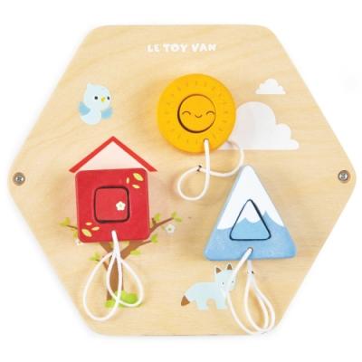 英國 Le Toy Van- Petilou系列啟蒙玩具系列-形狀猜猜瓦片啟蒙玩具
