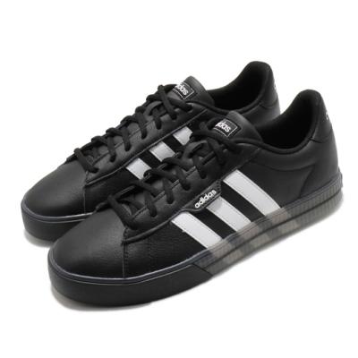 adidas 休閒鞋 Daily 3 復古 低筒 男鞋 愛迪達 基本款 板鞋 皮革鞋面 黑 白 G55067