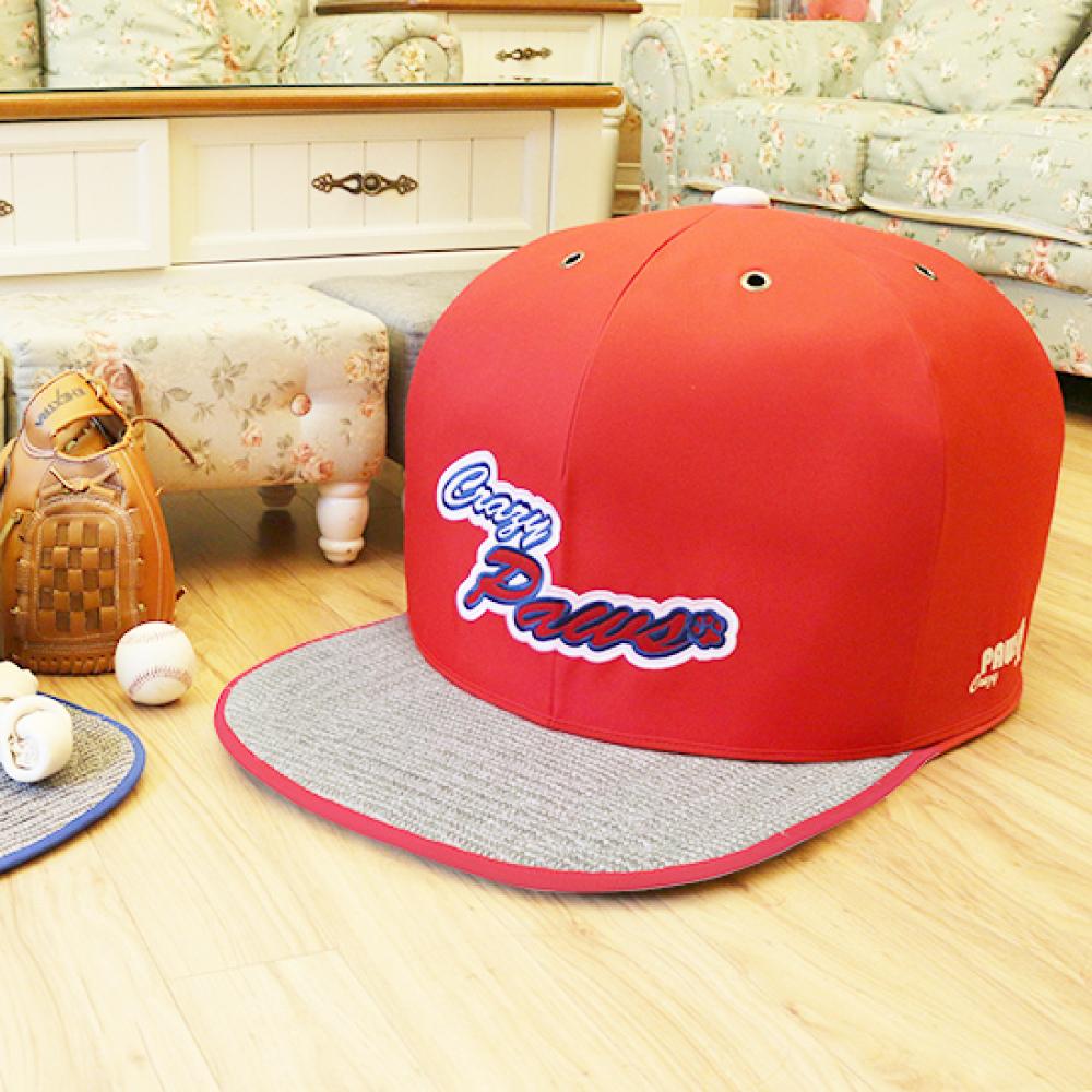 Crazypaws瘋狂爪子 舒適球帽造型寵物窩S號-喵星人最愛劍麻款(寵物床)