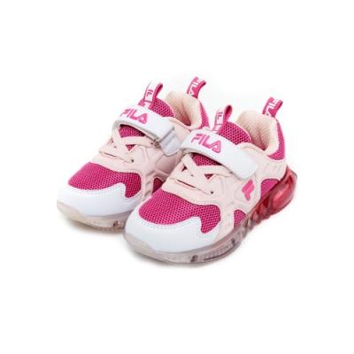 FILA KIDS 小童PVC電燈運動鞋-粉桃 7-J853U-515