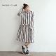 【MOSS CLUB】條紋腰部波浪長版襯衫-連身裙(二色) product thumbnail 1