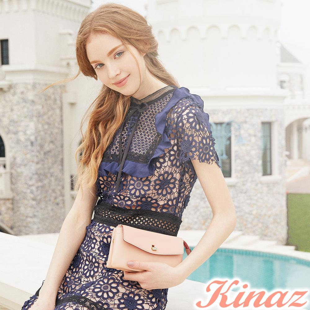 KINAZ 轉動幸運兩用斜背包-浪漫粉-鑰匙系列