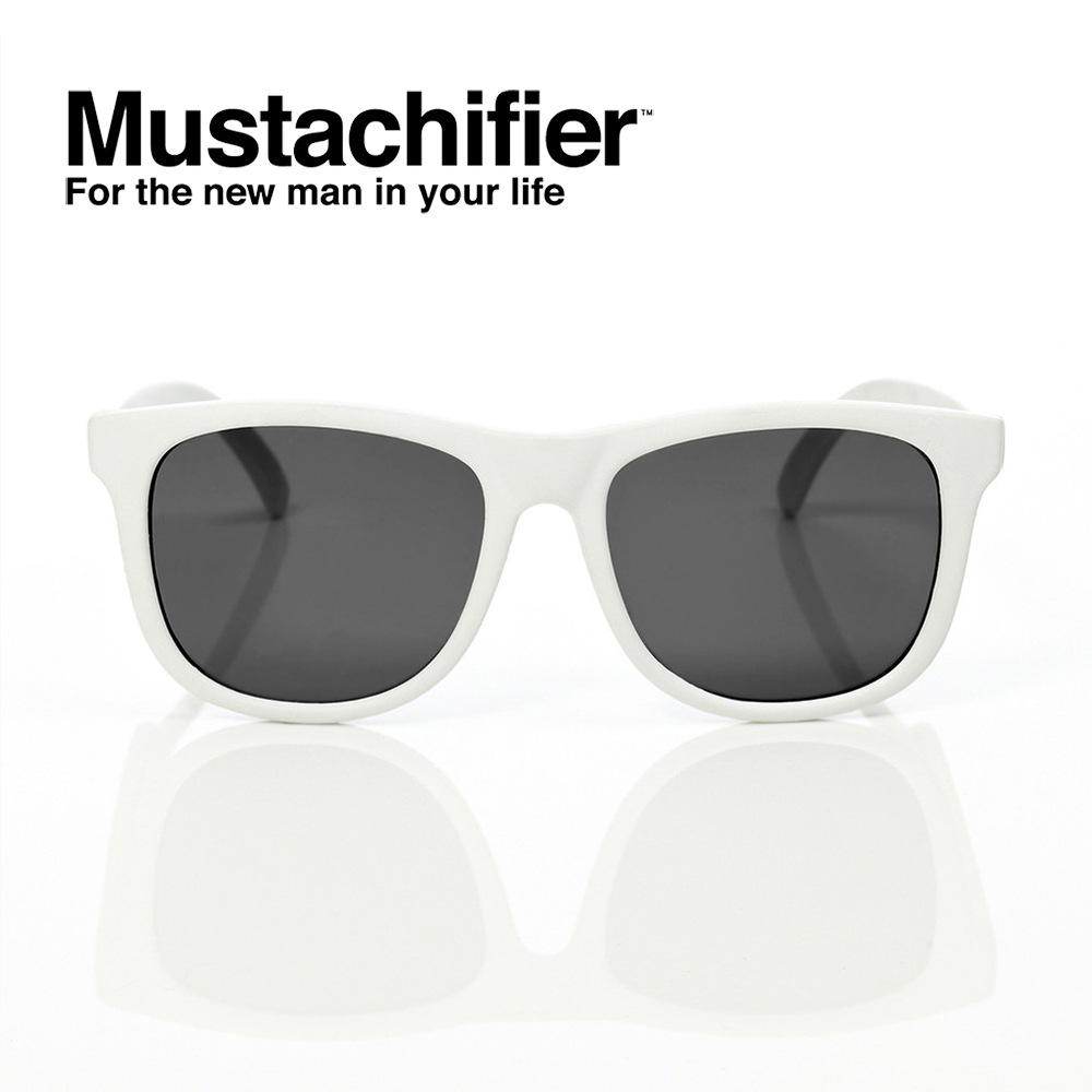 Hipsterkid 美國 抗UV時尚嬰童偏光太陽眼鏡 - 白色款 (3-6歲)