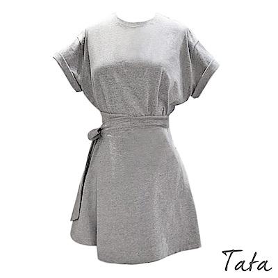 素色綁帶休閒套裝 TATA-(S/M)